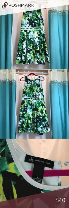 Floral palm print INC dress This print is so hot right now. Stretchy comfy material and perfect for brunch INC International Concepts Dresses