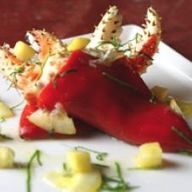 Cooking with Honey: Crab-Stuffed Spanish Peppers with Honey Preserved Lemon Herb Compote Honey Recipes, Low Carb Recipes, Healthy Recipes, Healthy Foods, Seafood Recipes, Mexican Food Recipes, Cooking With Honey, Good Food, Yummy Food