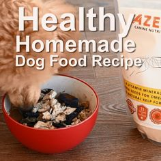 Looking to keep your dog healthy and save money by making your own organic dog food? See this list of the best dog food & treat recipes you can use at home. Dog Biscuit Recipes, Dog Treat Recipes, Dog Food Recipes, Make Dog Food, Best Dog Food, Raw Food For Dogs, Frozen Dog Treats, Homemade Dog Treats, Homemade Food
