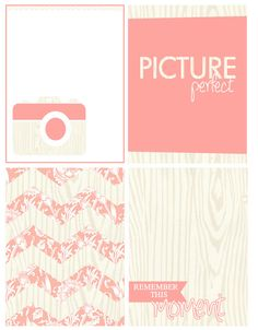 """""""Picture Perfect"""" FREE Printables"""