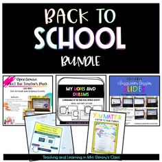 This bundle includes my Open House Pack for virtual or in-person meet the teacher events, my Open House You Matter letter and sticker gift for students, my Classroom Lesson Slides to organize your daily classroom lessons and routines all in one place (a year-long resource), and two lesson plan resou... First Day Activities, Writing Activities, First Day Of School, Back To School, Letter To Students, Building Classroom Community, Classroom Expectations, Meet The Teacher, School Lessons