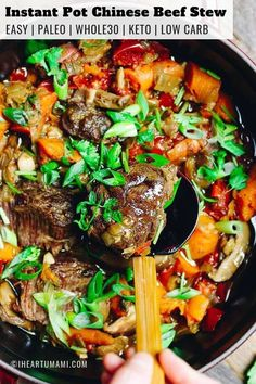 Instant Pot Taiwanese Beef Stew (Paleo, Keto) Instant Pot Taiwanese Beef Stew with beef shank. Easy healthy and low carb electric pressure cooker beef stew recipe. Low Carb Beef Stew, Pressure Cooker Beef Stew, Easy Beef Stew, Pressure Cooker Recipes, Slow Cooker, Pressure Cooking, Chinese Beef Stew Recipe, Rice Cooker, Top Recipes