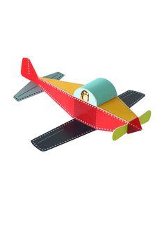 Plane Paper Toy DIY Paper Craft Kit 3D Paper Toy by pukaca