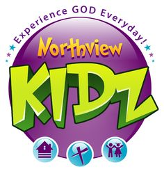 Different church logo design for kids. Northview Kidz. Experience God everyday. Religious logo design.