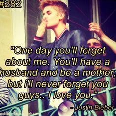 I will never forget u!!!!!!!!  <3 I will always love u and b there 4 u!!!  Love u baby!!  <3
