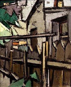 Paysage<br>1919 - 1924 - La Banlieue Parisienne - Frédéric FIEBIG