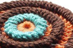 Folding Single Crochet Stitch - Tutorial.