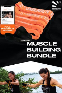 Undersun's muscle building bundle has everything you need to build to your goals. Each set comes with 5 resistance bands of different weights, 1-year access to our TA2 Build 90-day digital workout program, and more! Want to learn more about the bundle? Click the link now or pin it for later! Strength Program, Strength Workout, Muscle Building Program, Resistance Band Exercises, Busy Life, Muscle Groups, On Set, Build Muscle, Workout Programs