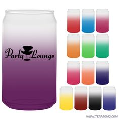 Promotional 16 oz. Soda Can Glass with Custom Frost Glow | Customized 16 oz. Soda Can Glass with Custom Frost Glow | Promotional Beverage Glasses