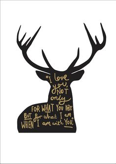Love Quote Deer Print A4 - I Love you quote