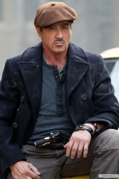 Yo Adrian wheres my Peacoat. From the Expendables... niiice!