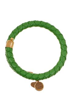 Paloma Picasso Knot single braid bracelet of green leather and silver, medium Tiffany & Co.