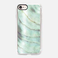 IRISDISCENT SEASHELL SEAGREEN by Monika Strigel iPhone7 iPhone 7 Hülle by Monika Strigel   Casetify (DE)   $40  #casetifyiPhone7 #iphone7 #iphone7case #popular #cute #