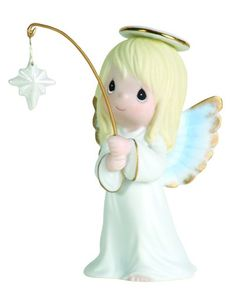 Precious Moments Mini Angel With Dangle Star Figurine