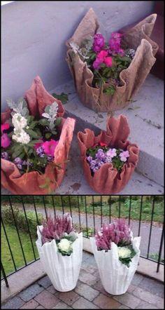 Verwandle Ein Altes Handtuch In Einen Atemberaubenden Betonpflanzer! Es M