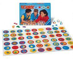 Tira los tres dados: uno indica el color del aro, el segundo el color del fondo, y el tercero figura. Si tú tiras el aro azul, con el fondo rojo, y la luna, ahora todos los jugadores al mismo tiempo tienen que buscar esta combinación dentro de los seis tableros, el primero en encontrarla coloca su ficha. El jugador que termine de colocar sus 6 fichas será el ganador. Un juego donde se desarrollan habilidades de observación, discriminación visual.  15 min.  2 a 6 jugadores  Edades: De 5 a 10…