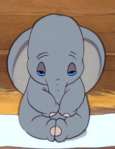 dumbo: (eyes closed. Maybe no lines above the eyes?) (love for ceramics)