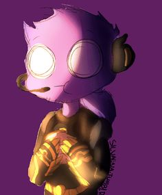Vincent~ So cute!<<<That's Vinny, a character created by Rebornica. Not Purple Guy. Ugh, non-fandomers. Fnaf Gif, Ruby Gloom, Fnaf Sister Location, Night Terror, Fnaf Drawings, Best Horrors, Five Nights At Freddy's, Munch Munch, Fan Art