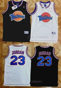 Activewear Tops 185076  Space Jam Tune Squad Basketball Jersey Michael  Jordan  23 Black White e779ea7c2