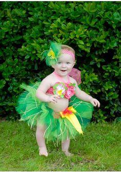 Baby Girl Birthday Luau Tutu  Hawaiian Luau by ChristiCreations
