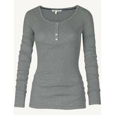 Fat Face Loungewear Henley T-Shirt ($29) ❤ liked on Polyvore featuring tops, t-shirts, shirts, long sleeves, 10. tops., grey, gray t shirt, long sleeve t shirts, gray long sleeve shirt and henley shirt