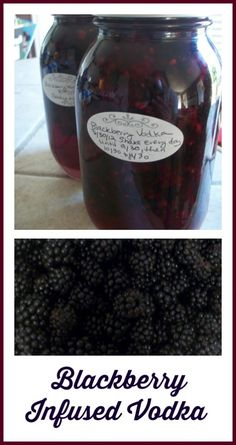 How to make your own blackberry infused vodka. You can also take this #recipe to make any number of fruit infused vodkas. So good - and super easy.