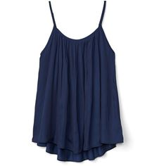 Gap Women Pleat Scoop Neck Tank (475 MXN) ❤ liked on Polyvore featuring tops, shirts, tank tops, tanks, blouses, pleated tank top, blue tank, scoop neck top, scoop neck shirt and blue top