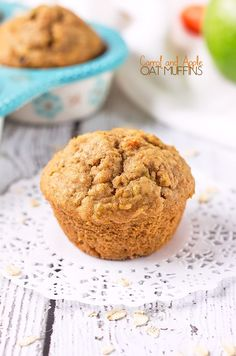The combination of carrot and apple makes these muffins, sweet, yet slightly tart. Along with oats and a little spice in there too, they're hearty and filling, whilst not being packed with sugar. The perfect muffin to keep you full until lunch!