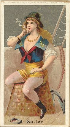 Sailor, from the Occupations for Women series (N166) for Old Judge and Dogs Head Cigarettes