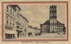 Neustrelitz, Mecklenburg-Vorpommern: Marktplatz mit Stadtkirche [2]