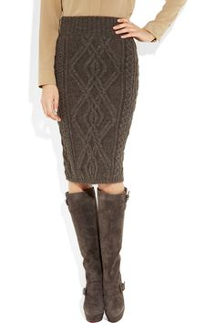 Love this Chloe cable-knit skirt.