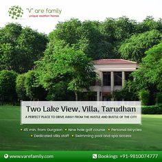 #TwoLakeView #TarudhanValley  Situated on the very scenic #golfcourse. This place offers a breathe taking vista of #lushgreen fairway, small lake and an island putting green. Enquire Now: Call +91-9810074777 or Visit: http://bit.ly/2r3Kpo0  #FamilyVacation #VacationRental #FamilyTrips #Varefamily
