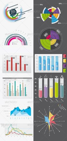 Fancy infographic elements for your projects  #minimalistic #modern #pie • Available here → http://graphicriver.net/item/infographic-elements-01/133402?s_rank=1488&ref=pxcr