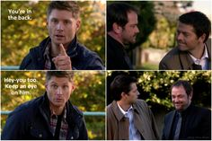 :) At least there was one light moment in this episode - 9x10 Road Trip (click for larger pics)