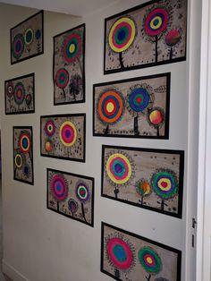 Art Kandinsky, Collaborative Art Projects For Kids, Art Zen, 6th Grade Art, Ecole Art, Art N Craft, Kids Artwork, Art Club, Art Plastique