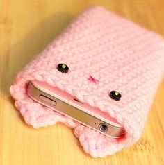 Crocheted Pink Iphone Case Kawaii Accessories Blog