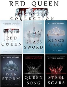 The Complete RED QUEEN Collection on sale now at ebooksprime.com Includes all 6 titles by #VictoriaAveyard #warstorm #redqueen #kingscage #glasssword #steelscars #queenson