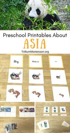 Preschool printables about Asia