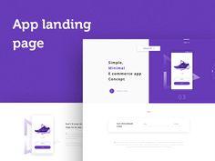 E Commerce App landing page Concept