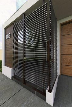 Pionik is a visual bookmarking tool that you can use to find ideas in home decor, design, shoping, cooking and much more for all your projects and interests. Modern Entrance, Entrance Gates, Architecture Details, Modern Architecture, Exterior Design, Interior And Exterior, Window Grill Design, Deck Lighting, Fence Design