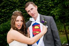 #hogarths #solihull #prestigephotography #superman #bride #groom #weddings #love #laughs