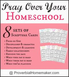 Free Praying Over Your Homeschool Printable Scripture Cards