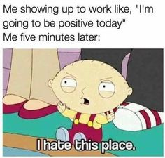 Job & Work quote & saying So funny. I don't hate my job. The quote Description So funny. I don't hate my job Hate My Job Quotes, Job Quotes Funny, Hate Job, Funny Memes About Life, Fact Quotes, Stupid Memes, New Job Meme, Job Memes, Job Humor