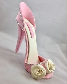 Sugar High Heel Shoe/ Cake Topper//Fondant Shoe//Gum paste shoe//gum paste high heel//sugar shoes//cake decorating//high heels//Gift For Her by SweetCakeFetish on Etsy