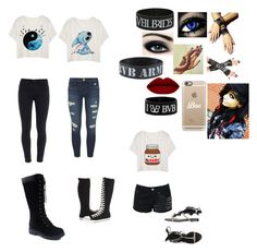 """Three outfits only"" by insanity5678 on Polyvore featuring Converse, Paige Denim, Casetify, J Brand, Glamorous, Visconti & du Réau, women's clothing, women, female and woman"