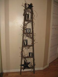 primitive ladder decorating ideas | etsy.com