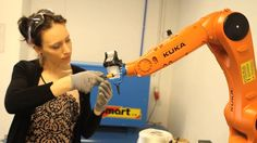 KUKA weaving with carbon fibre on Vimeo