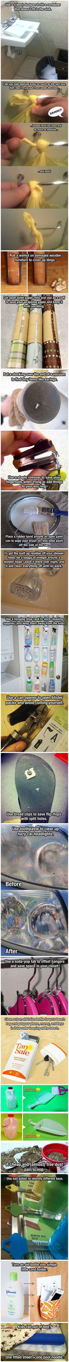 Genius solutions to simple problems that only require normal stuff around the house.