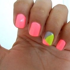 geometric nails - I need to do this!