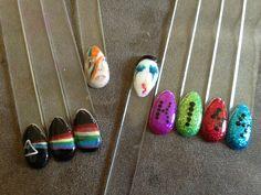 Pink Floyd, David Bowie, Lady Gaga, and Kiss nails. Nail art by Nichole Aukerman. Nic's Knacks